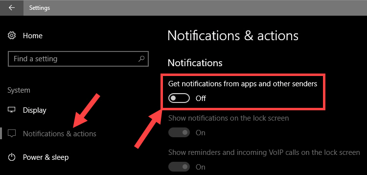 Turn off all app notifications