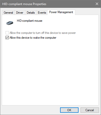 Select checkbox in mouse hardware management