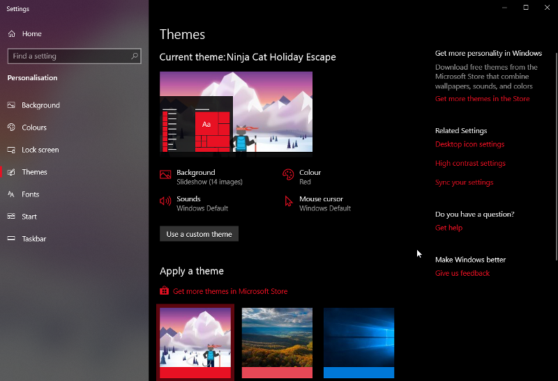 Windows 10 theme applied