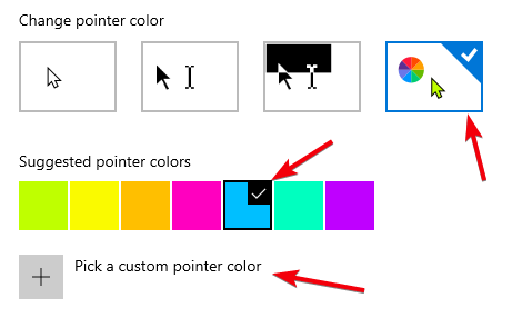 Change mouse pointer color and size image 02