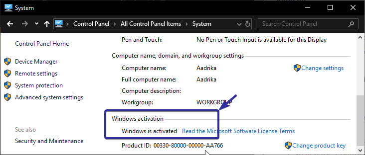 check if windows is activated
