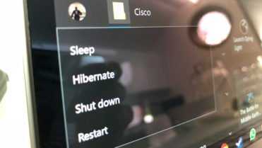 Sleep hibernate shutdown restart options start menu