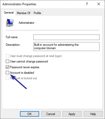 Windows 10 enable hidden administrator account 03