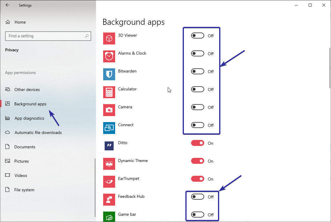 Windows 10 stop background apps 02