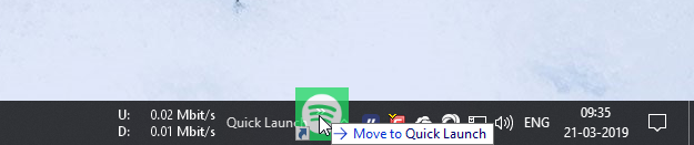 Add quick launch toolbar 06