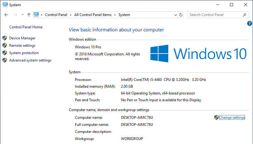 Change computer name windows 10 06