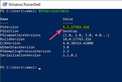 Check powershell version windows 10 01
