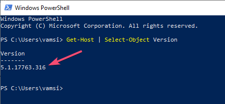 Check powershell version windows 10 02