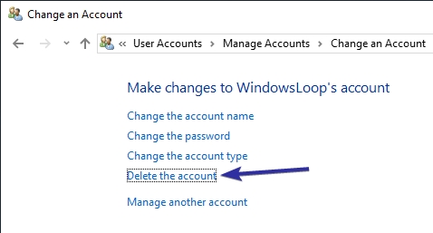 Delete user account windows 10 08