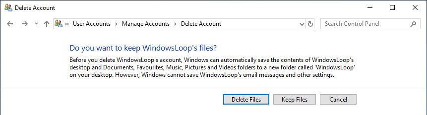 Delete user account windows 10 09