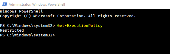 Get current powershell execution policy
