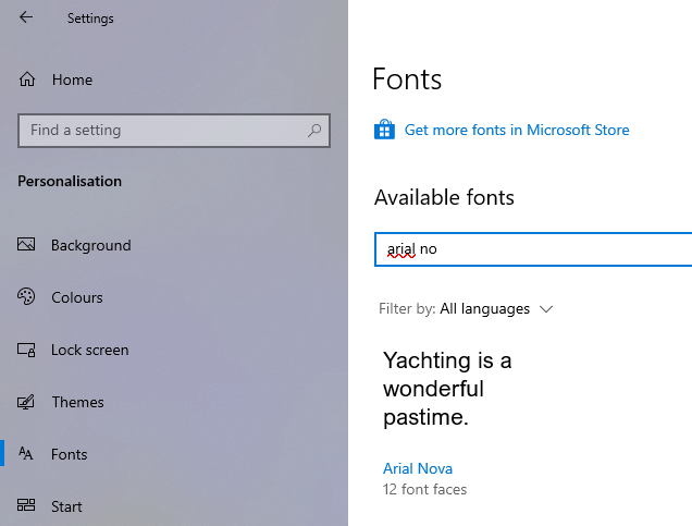 Install fonts in windows 10 06