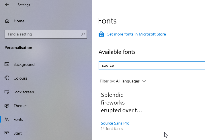 Install fonts in windows 10 13
