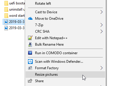 Resize images from right click menu 02