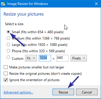 Resize images from right click menu 03