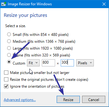 Resize images from right click menu 05