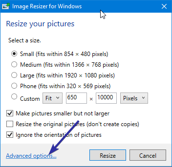 Resize images from right click menu 06