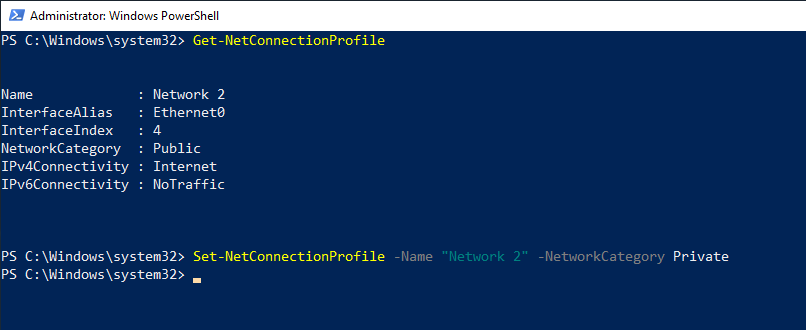 Windows 10 change network location type 05