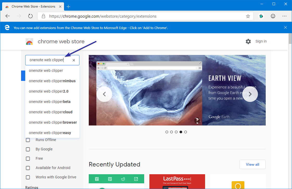Install chrome extensions in edge browser 04
