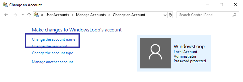 Rename windows user account 04