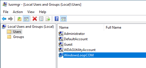 Rename windows user account 10