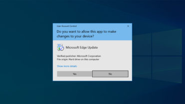 User access control prompt windows 10