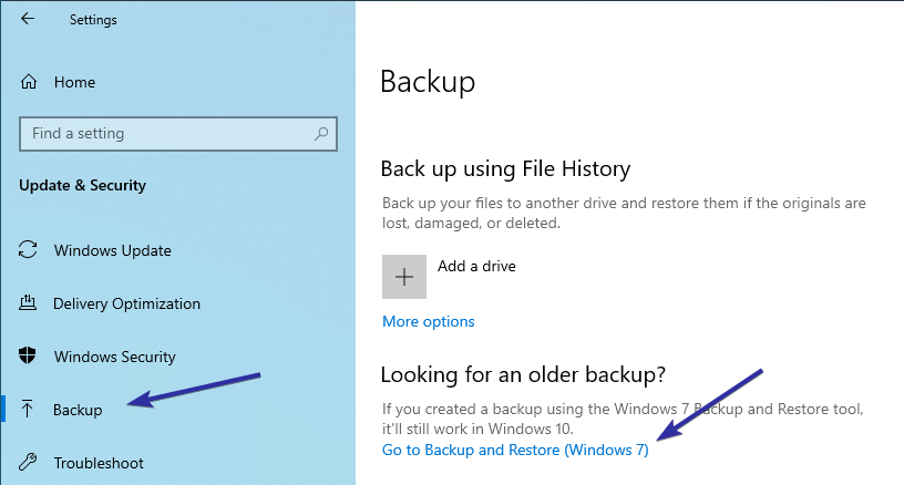 Windows 10 backup to network drive 01