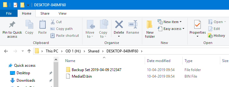 Windows 10 backup to network drive 11