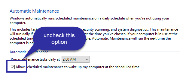 Disable automatic maintenance mode 02