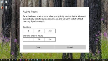 Windows 10 active hours featured