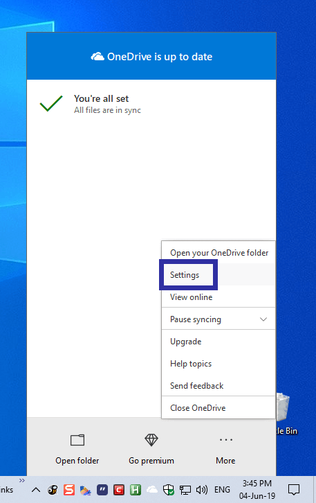 Delay onedrive startup step 01