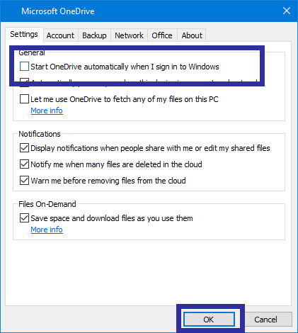 Delay onedrive startup step 02