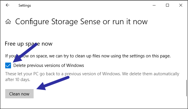 Delete previous windows installations step 02