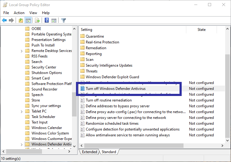 Disable windows defender 07