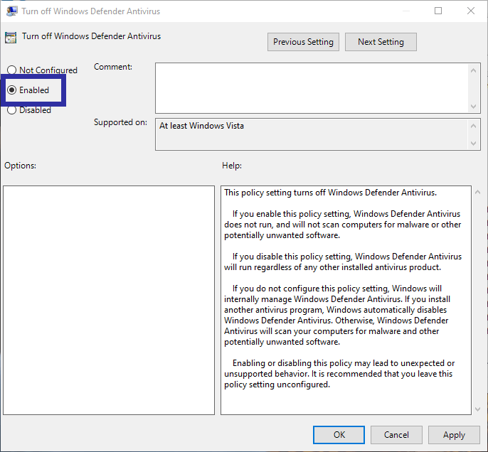 Disable windows defender 08