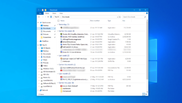 Fix files grouped by date in file explorer featured