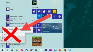 Remove sleep option from start menu - featured