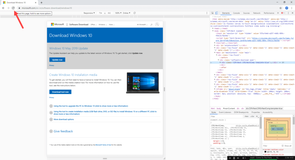 Download-windows-10-iso-without-media-creation-tool-chrome-reload-page