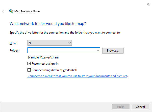 Add sharepoint to file explorer - map to drive