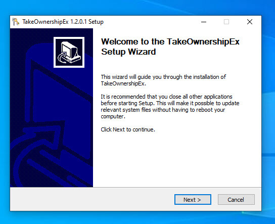 Add-take-ownership-to-right-click-install-application