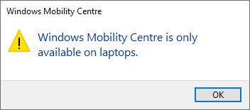 Enable-mobility-center-cannot-run-error