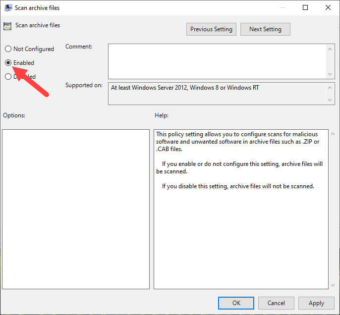 Windows-defender-archive-scan-configure-policy