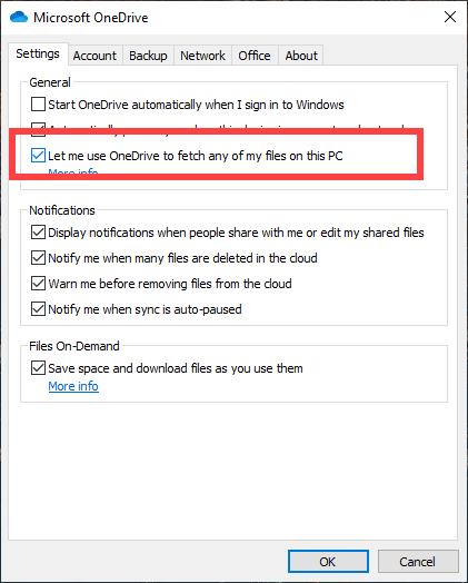 Access-pc-files-in-onedrive-select-checkbox