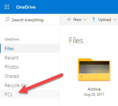 Access-pc-files-in-onedrive-select-pc-option