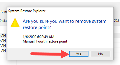Delete-old-restore-points-windows-click-yes