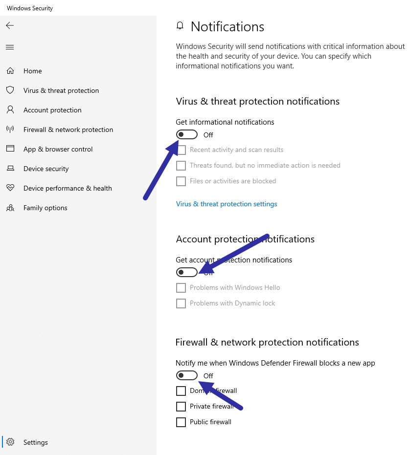 Disable-windows-defender-notifications-all