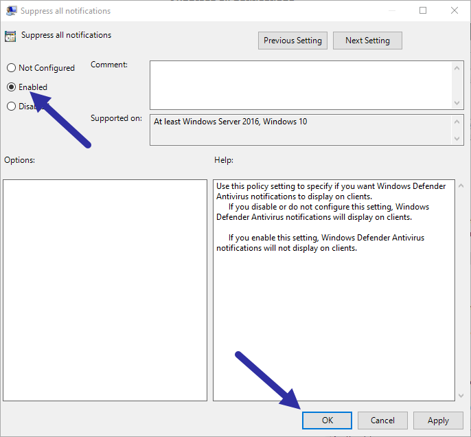 Disable-windows-defender-notifications-save-policy