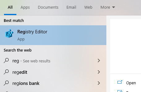 Copy-to-right-click-option-open-registry-editor