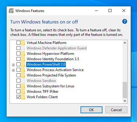 Disable-powershell-2-uncheck