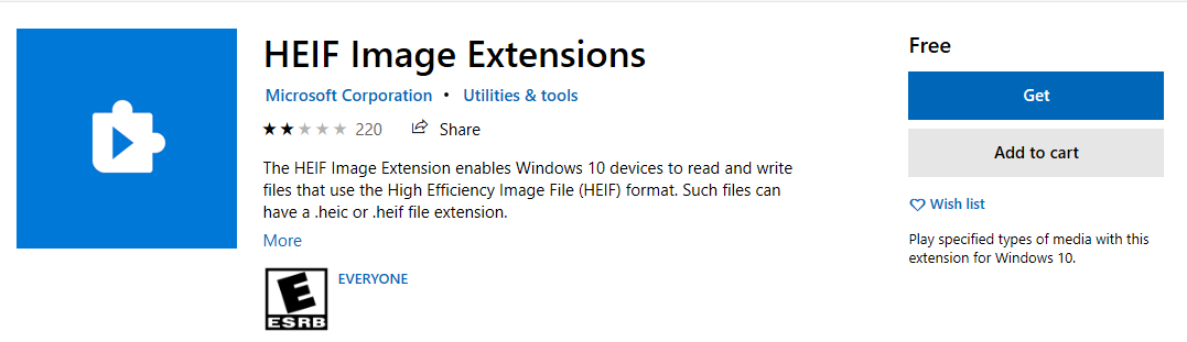 install heif extension